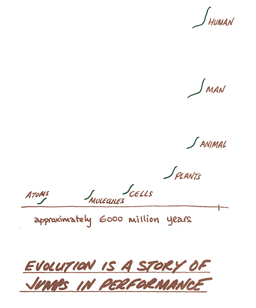 evolution is a story of jumps in performance diagram page 12