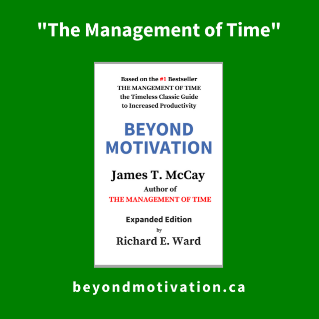 The management of time - Beyond Motivation - McCay - Ward